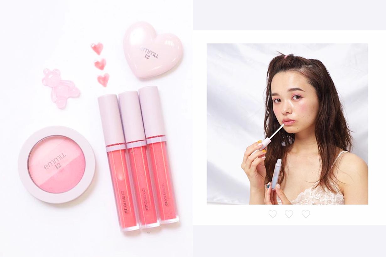 Nice Claup emmu.12 Japanese cosmetics brand makeup eyeshadows lip gloss blush j beauty budget brand