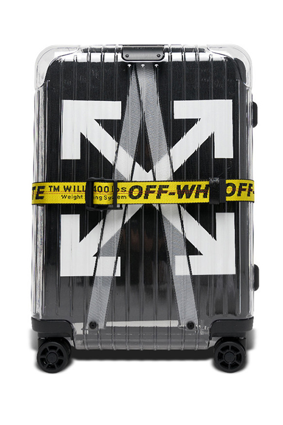off white rimowa essential suitcase white black