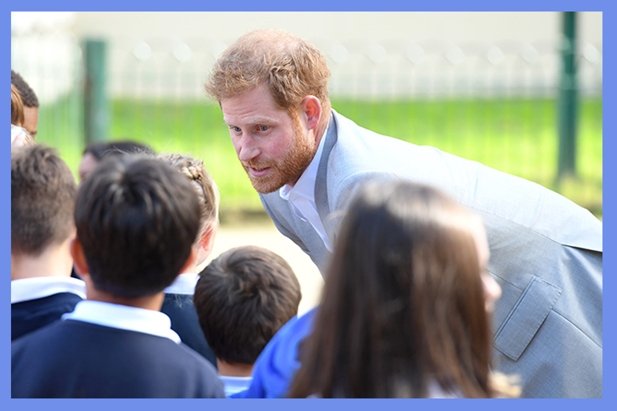 Prince harry Brighton royal visit year 4 boys fortnite criticises parents What is wrong with parents British Royal family