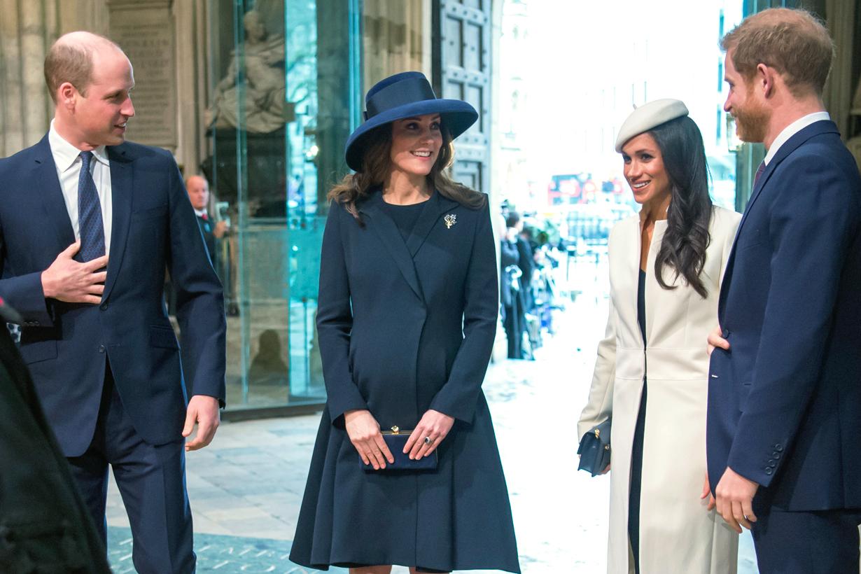 Prince William Prince Harry Kate Middleton Meghan Markle Kensington Palace  Nottingham Cottage Split ways british royal family