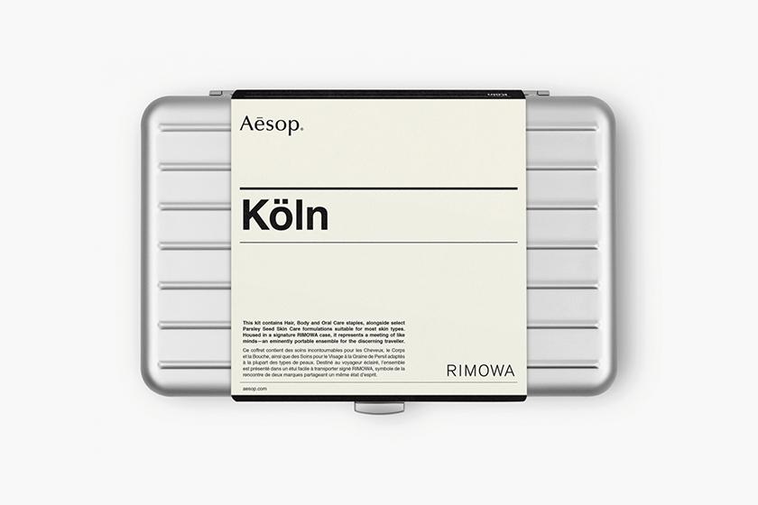 rimowa aesop limited edition koln travel kit