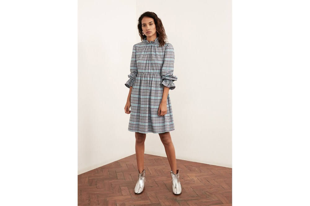 robyn checked babydoll dress
