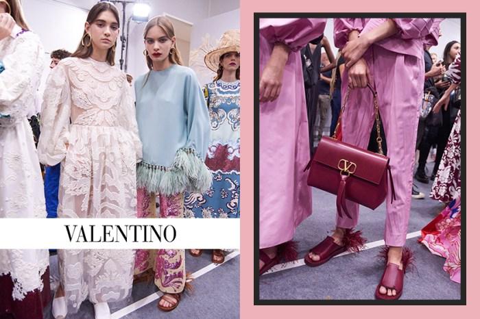 #PFW:在強大氣勢之中保持柔美,Valentino 2019 春夏系列登場!