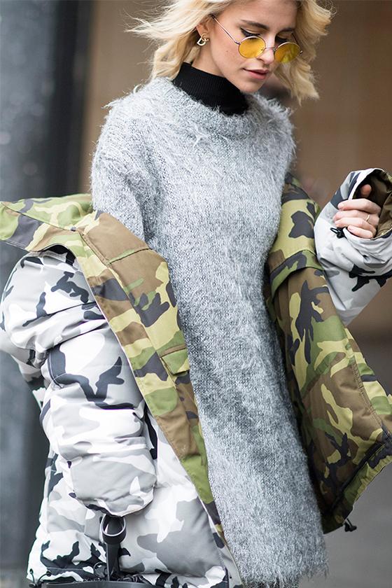 ways to wear camo streetsnaps