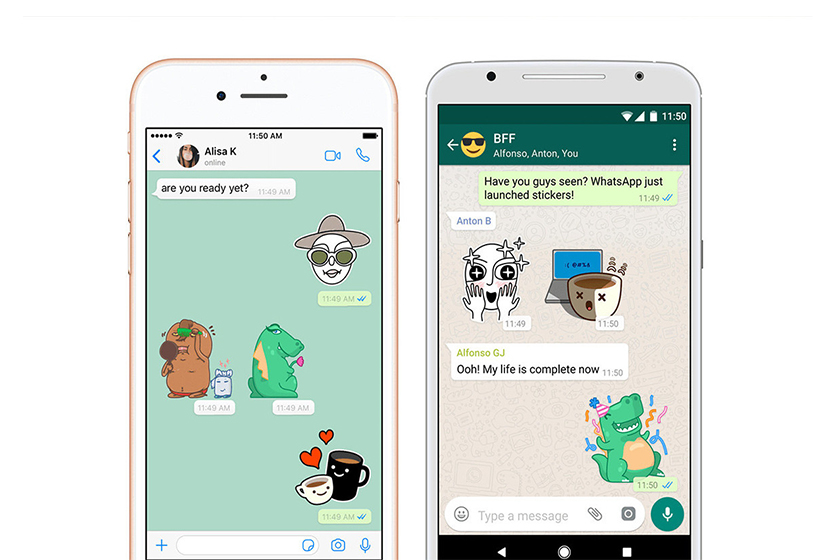 whatsapp adds stickers function