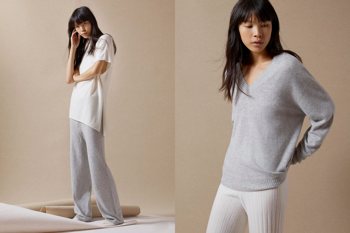 zara home loungewear knit cozy simple classic fall trend
