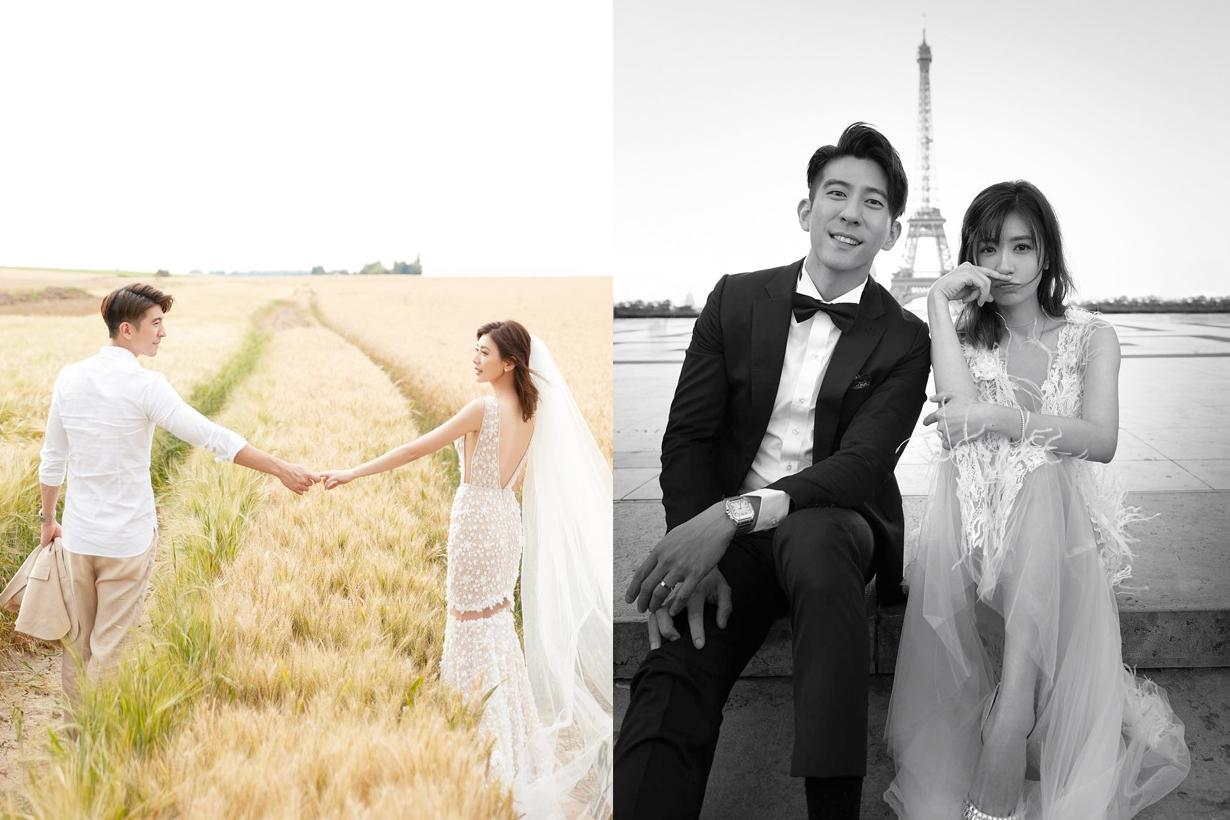 alyssa kai wedding photo paris taiwan actress