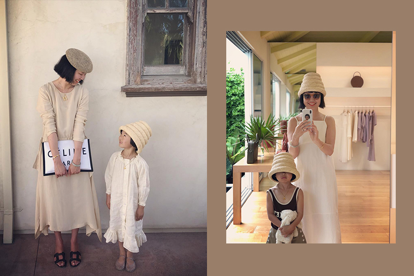 fashion blogger Helen yu kuo and her daughter Marni