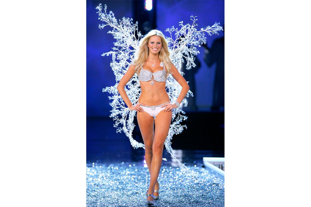 "Karolina Kurkova in the ""Hearts on Fire Fantasy Bra Victoria's Secret Model"