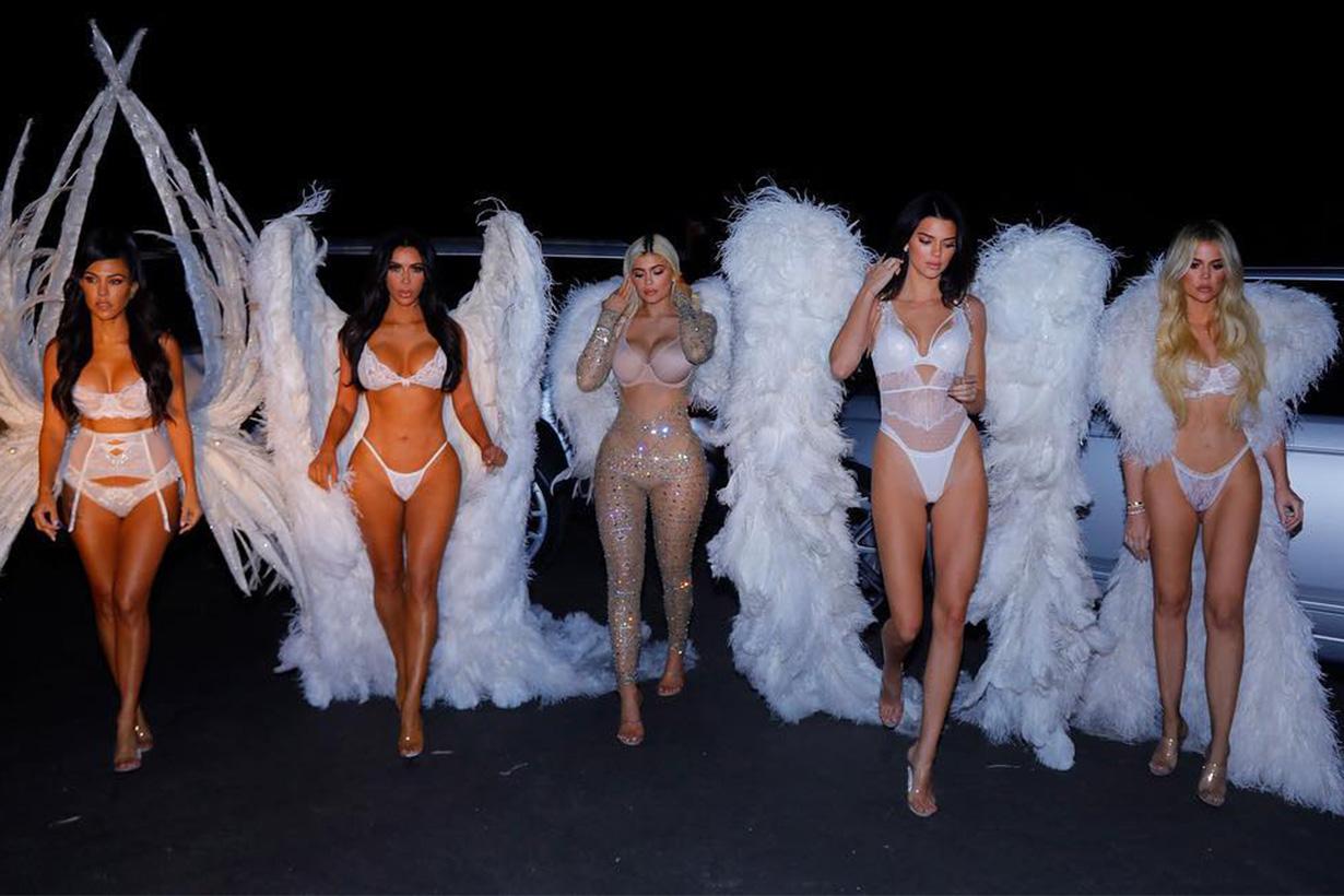 Kardashian sisters Halloween Kim Kylie Kendall VS_Angels