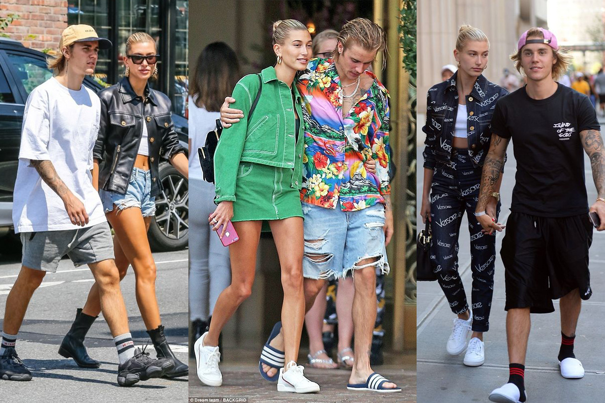 Justin Bieber Hailey Baldwin Couple wear Streetsnaps Style