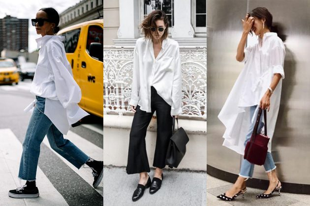 white shirt street snap style tips