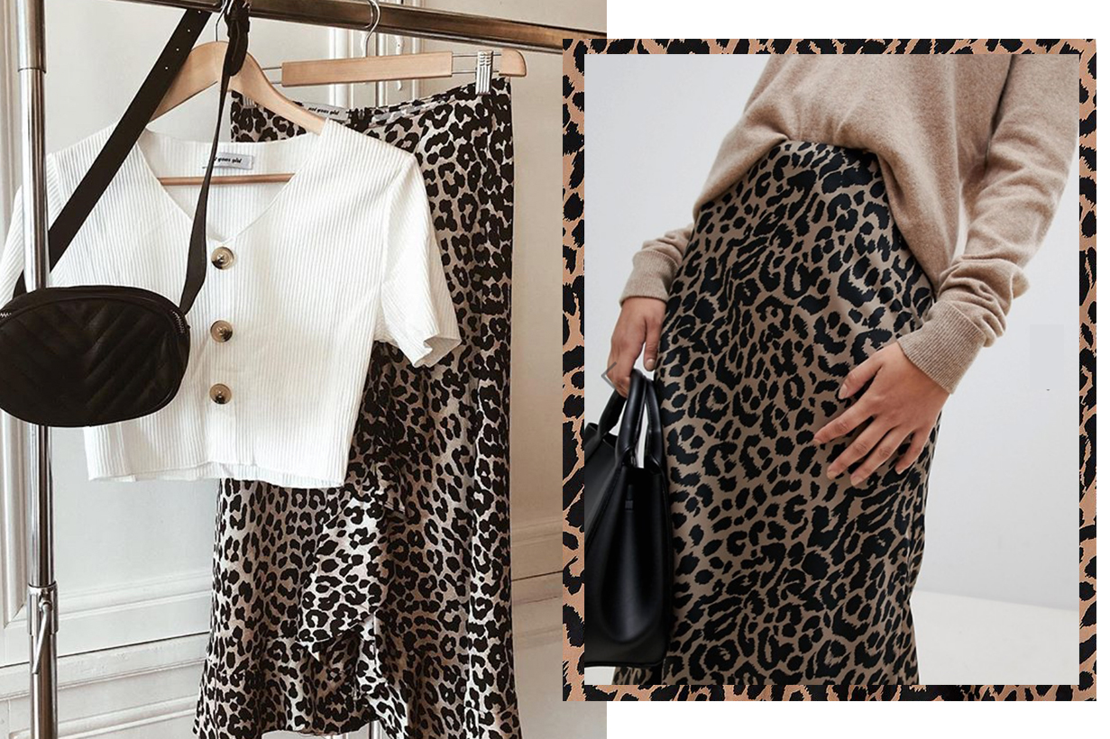ASOS leopard print skirt restock