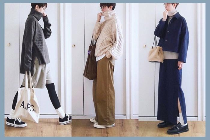 舒適又保暖的冬日穿搭靈感,想穿出日系時尚慵懶感就是如此簡單!