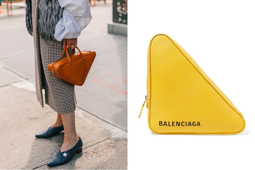 Balenciaga Triangle Duffle Bag Street Style It bag