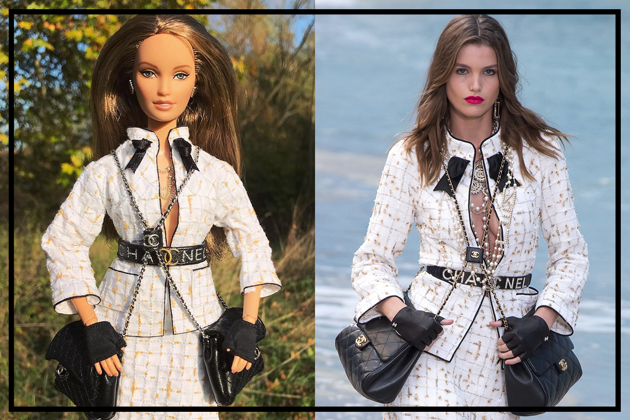 17 years old girl from Antwerp create fashion brand looks for barbie