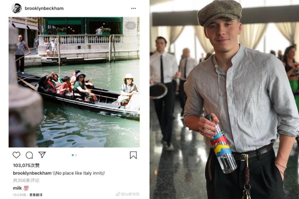 Brooklyn Beckham Italy Instagram Racism