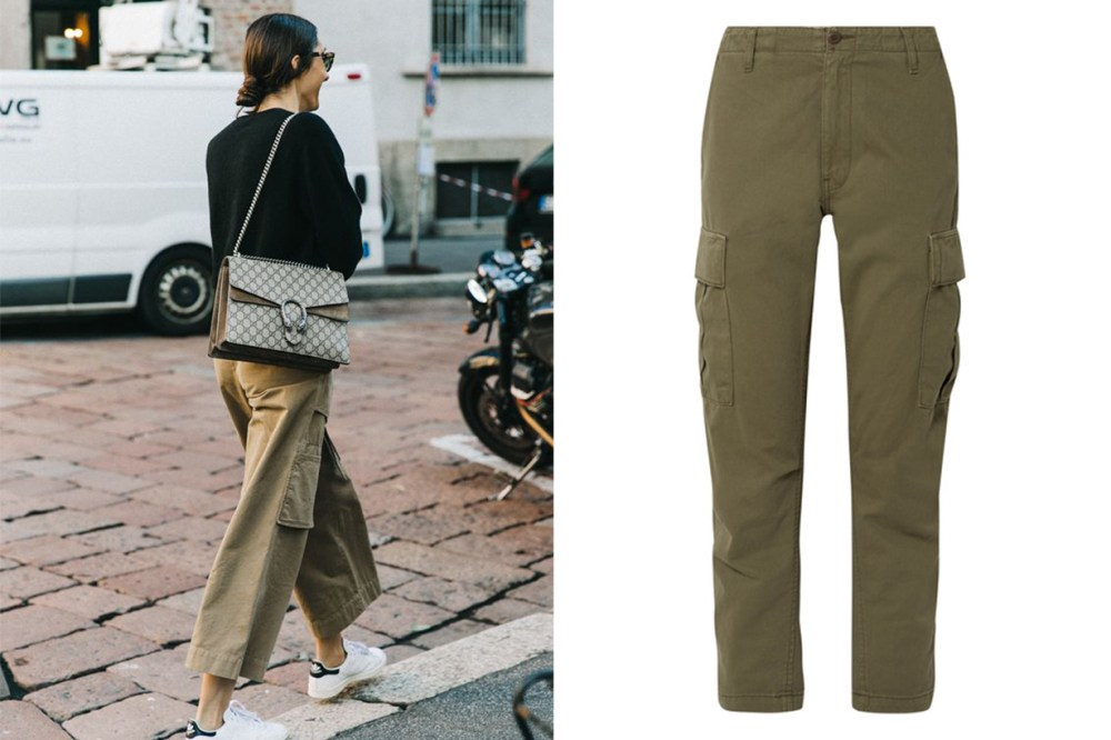 RE/DONE Cropped Cotton-twill Pants Cargo Pants Street Style