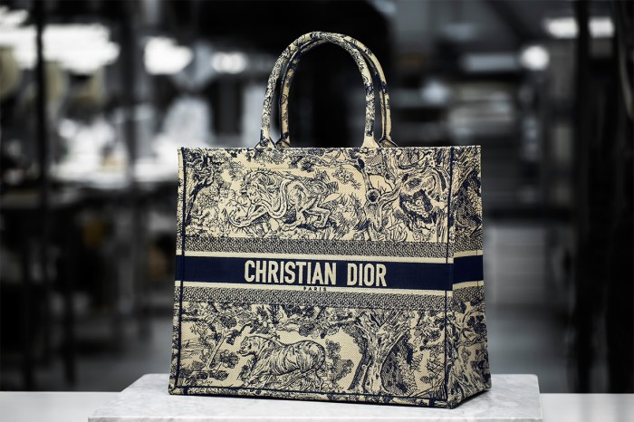 很想要吧?Dior Book Tote 手袋加上動物刺繡簡直完美!