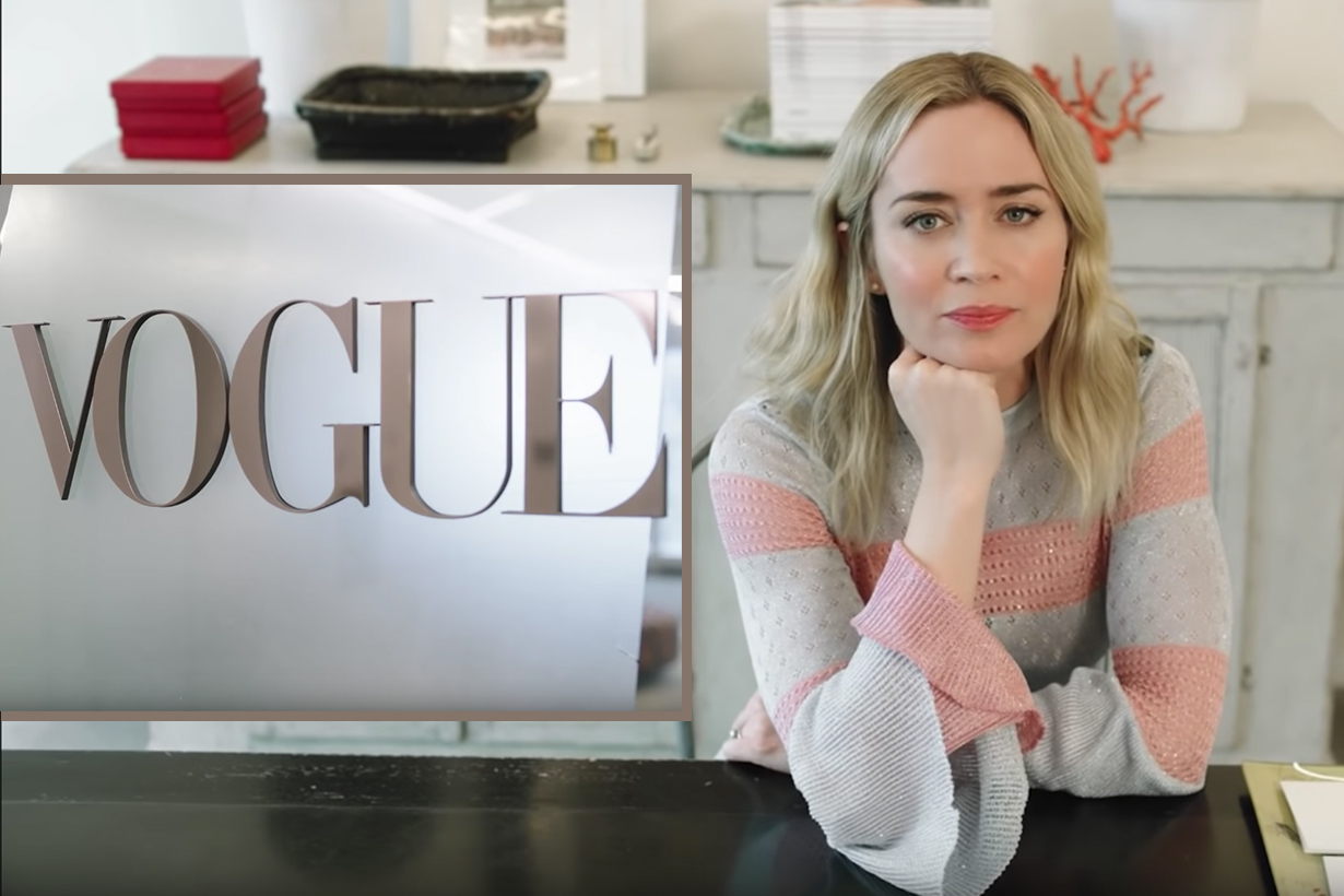 emily blunt vogue interview 2018