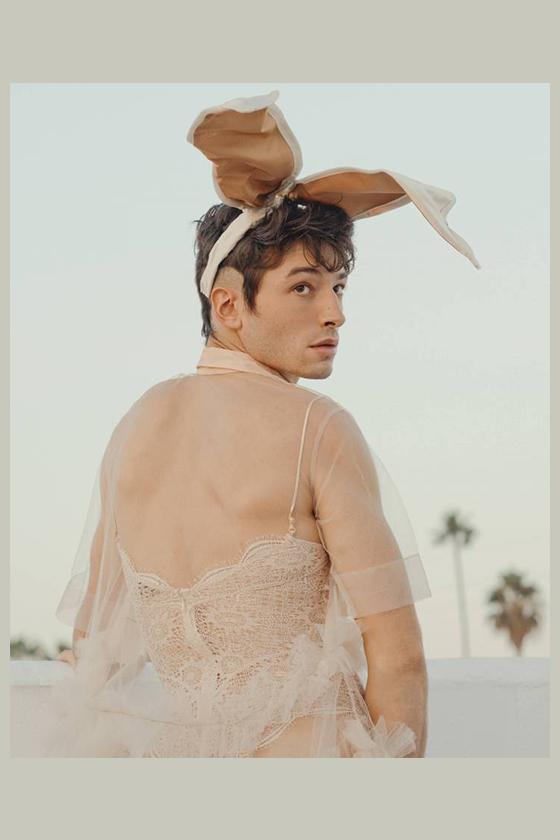 Ezra Miller playboy photo shoots fantastic beasts