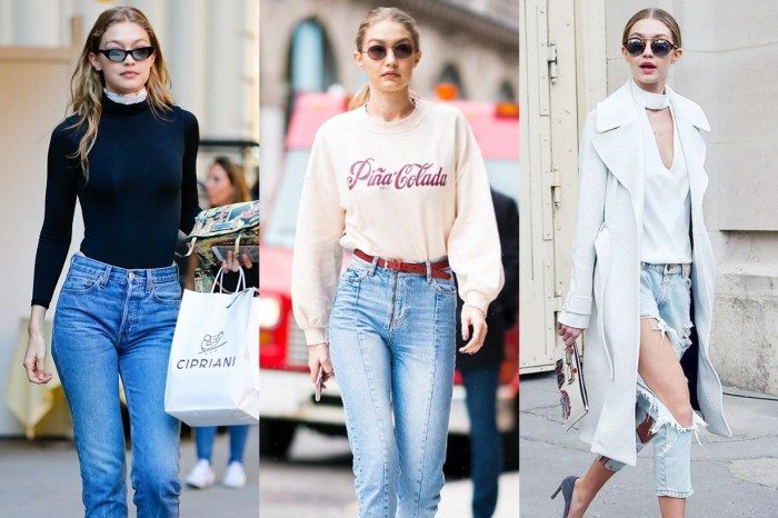Oversized 西裝外套怎樣搭?Gigi Hadid 用這款牛仔褲完美解答!
