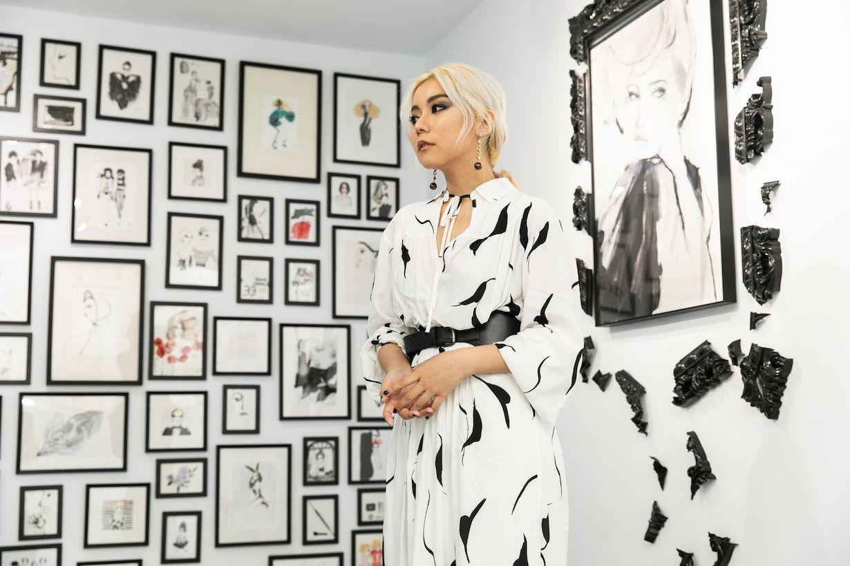 jing you Fashion illustrator taiwan artist exhibition