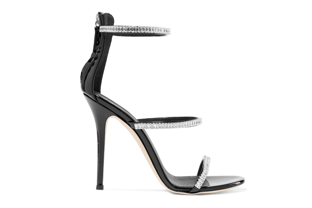 Harmony crystal-embellished patent-leather sandals