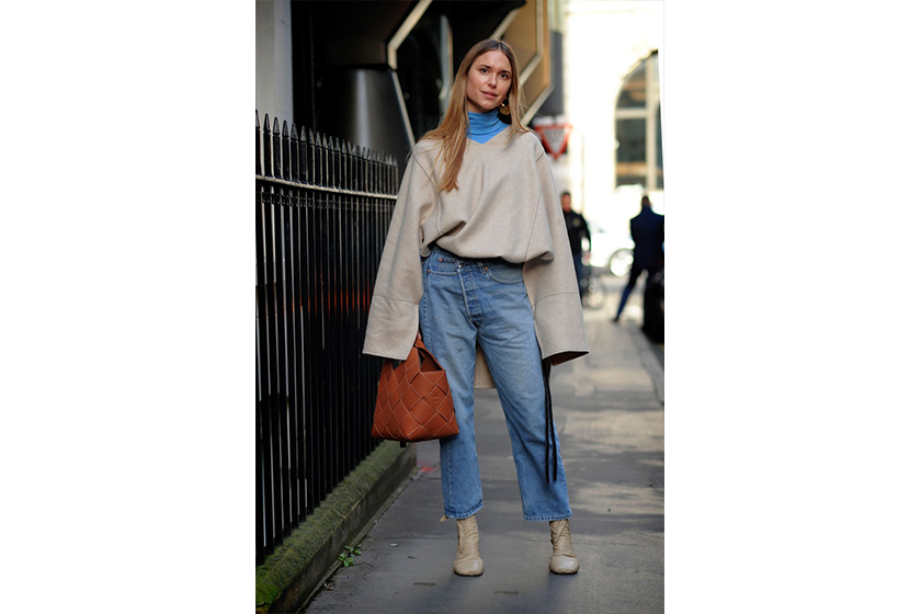 Oversized Top Baggy Jeans Street Style