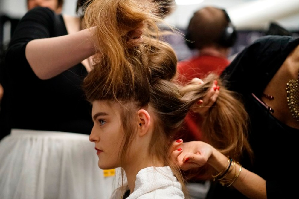 Backstage Model Hair Style