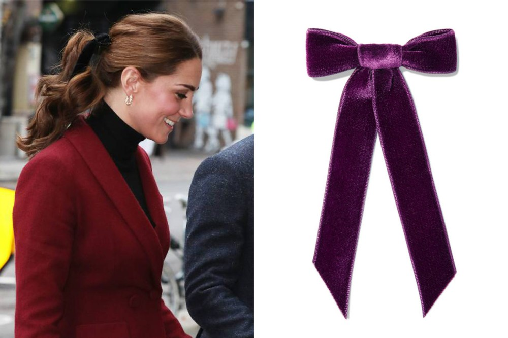 Jennifer Behr Velvet Hair Bow Kate Middleton
