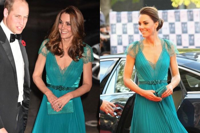 凱特王妃再穿 6 年前的舊晚裝,完全看不出已生了 3 個孩子!