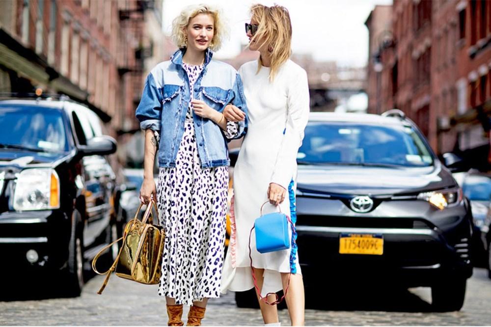 Leopard Printed Midi Dress Street Style