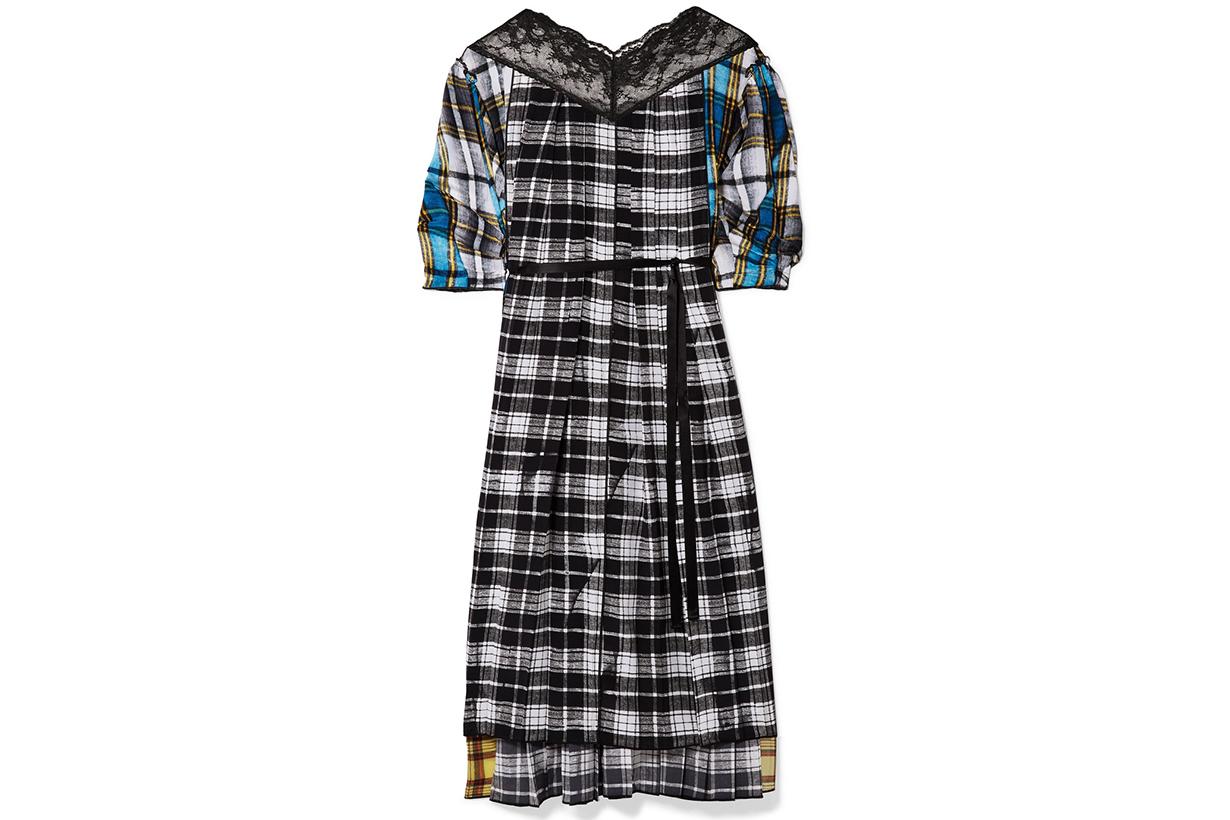 Check dress style fw2018
