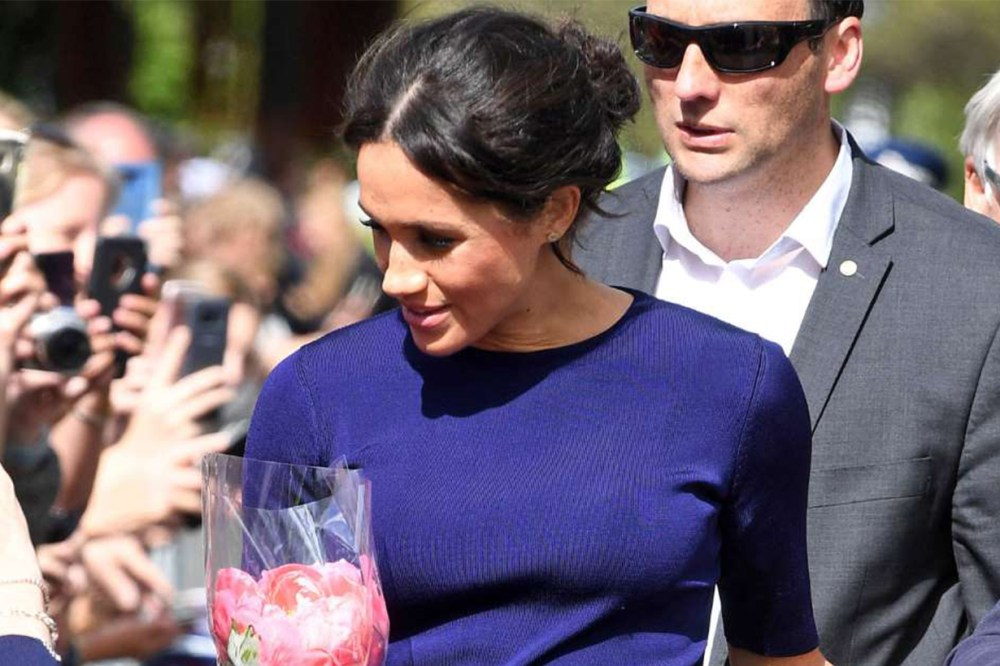 Meghan Markle's See-Through Givenchy Blue Skirt