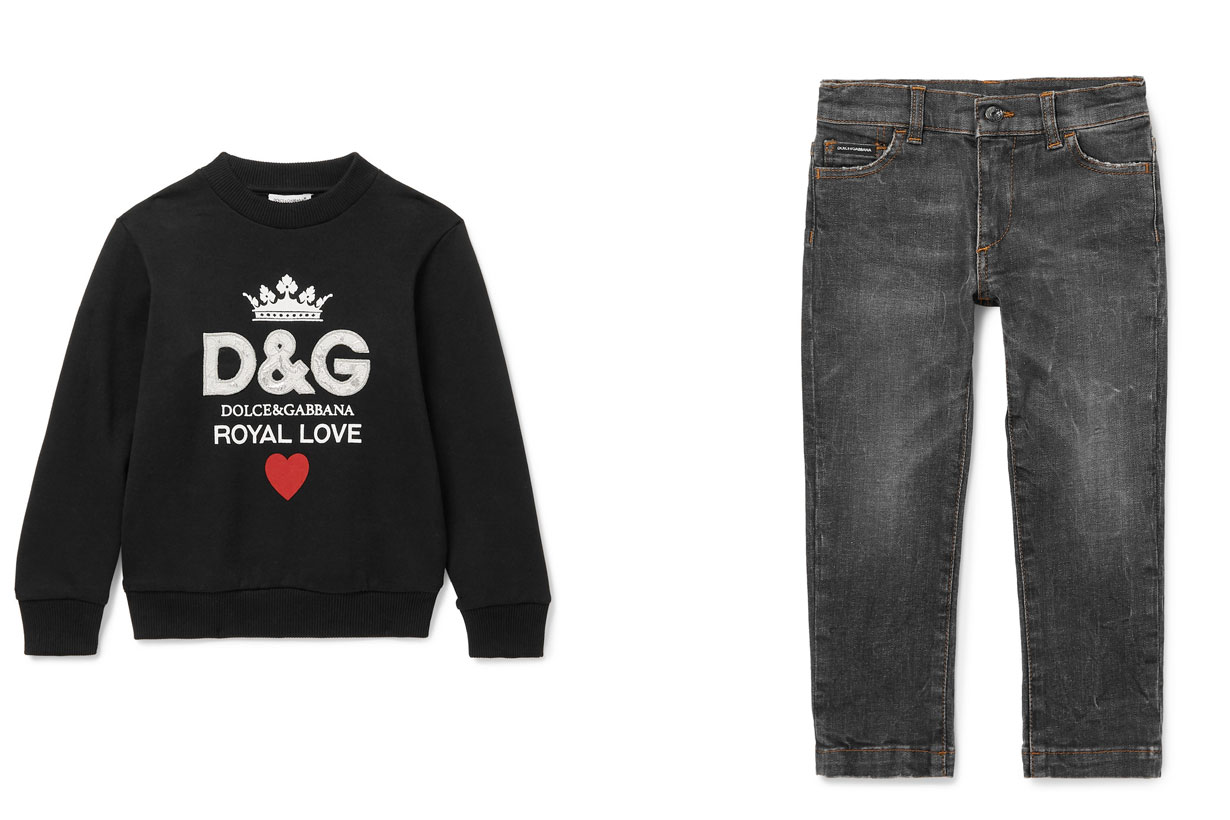 NEt a Porter X Dolce and Gabbana Kids Party style