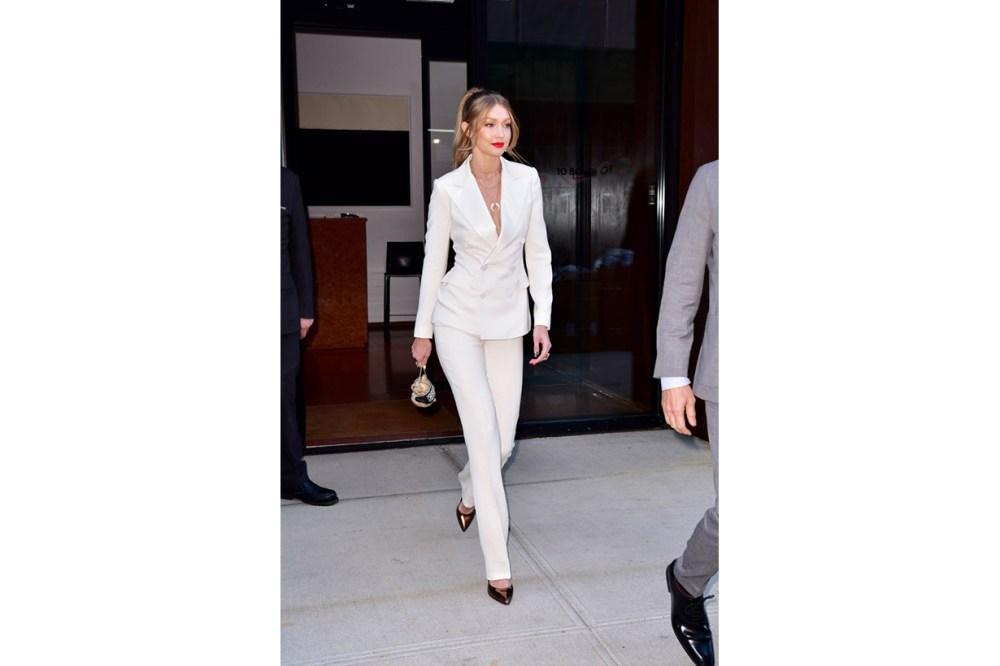 Gigi Hadid White Suit