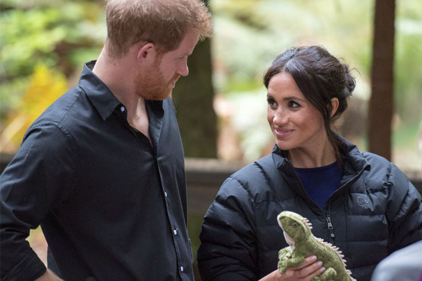 Prince Harry Gives Meghan His Puffer Jacket New Zealand