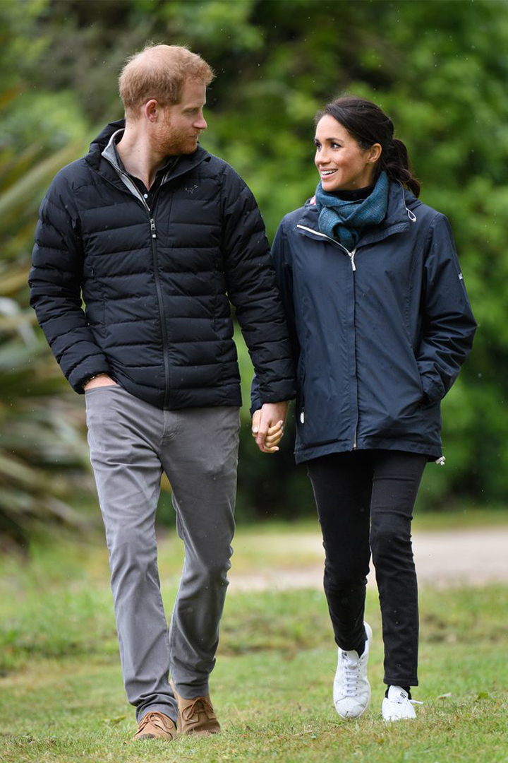 Prince Harry Gives Meghan His Jacket When She's Cold