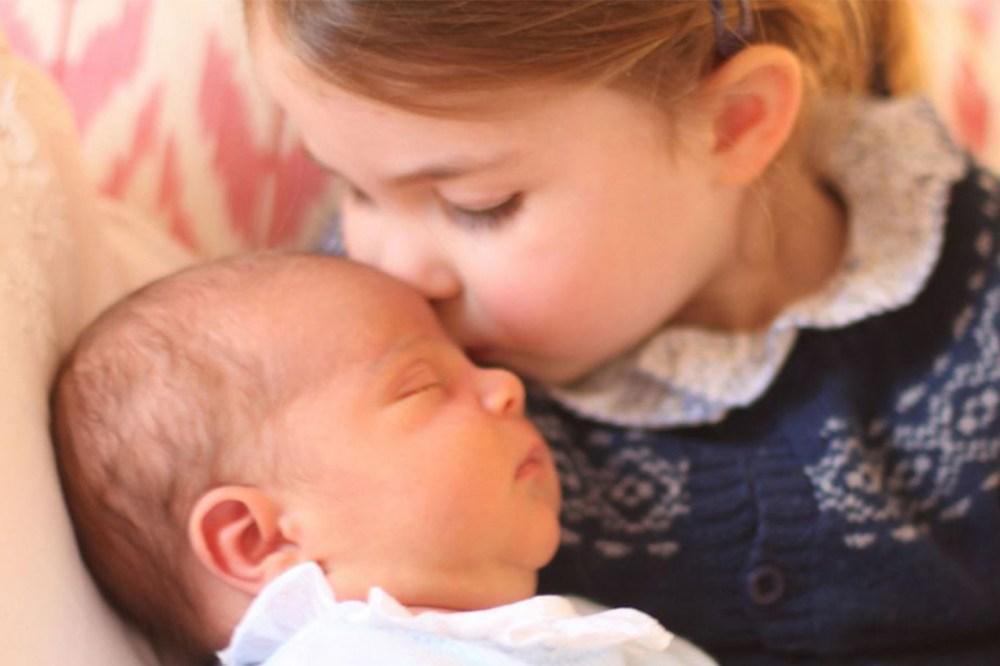 Princess Charlotte Kisses Prince Louis