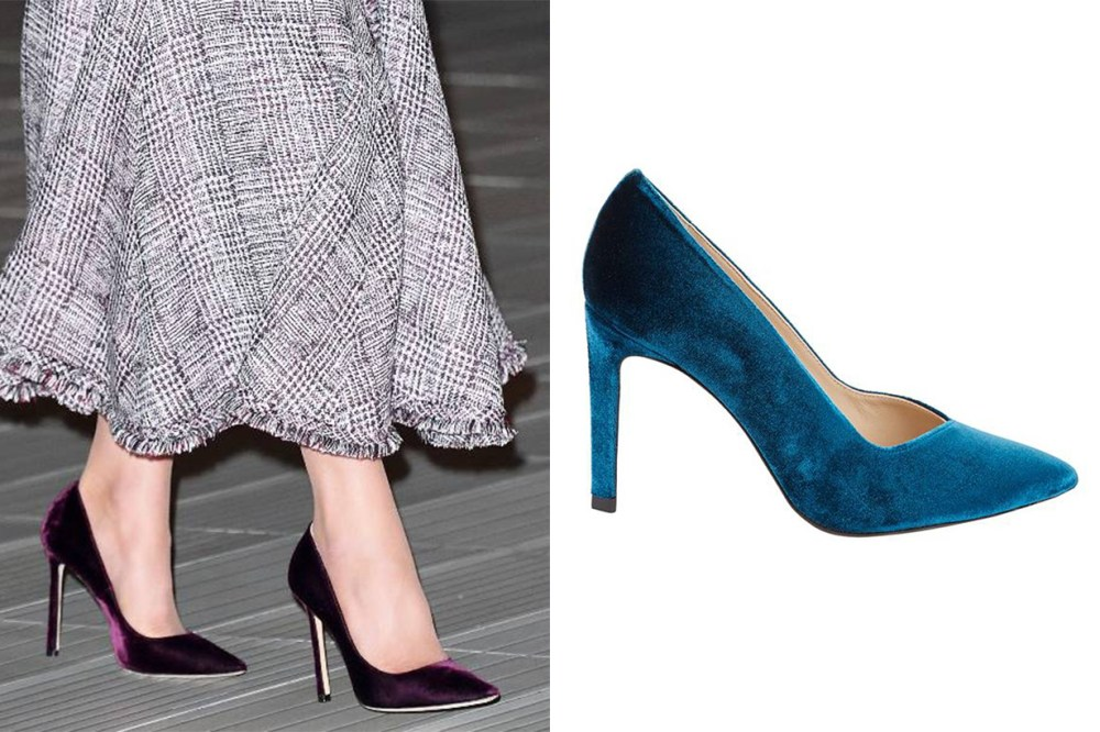 Sandro Velvet Pumps Kate Middleton