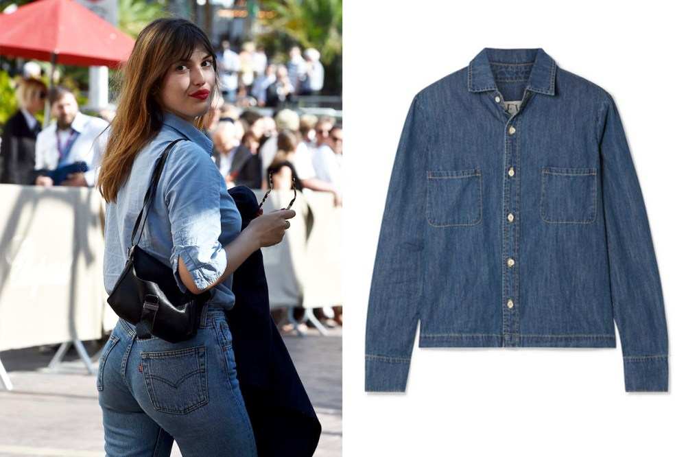 EVE Denim Simone Denim Shirt Jeanne Damas
