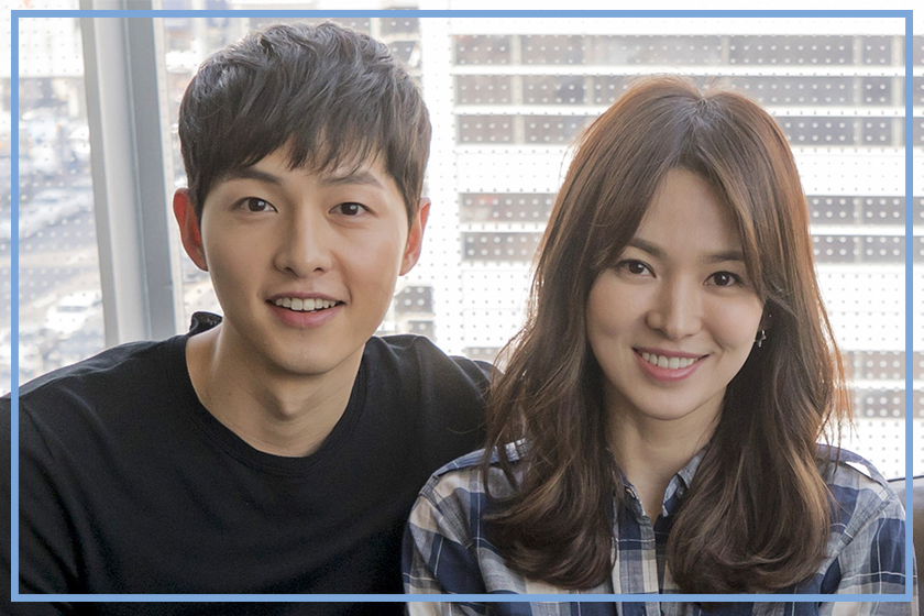 Song Joong ki romantic action send flower to Song Hye Kyo