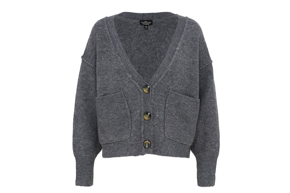 Topshop Patch Pocket Cardigan