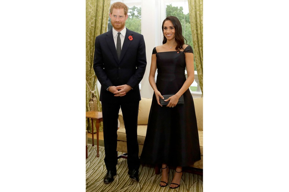 Meghan Markle Gabriela Hearst Black Dress