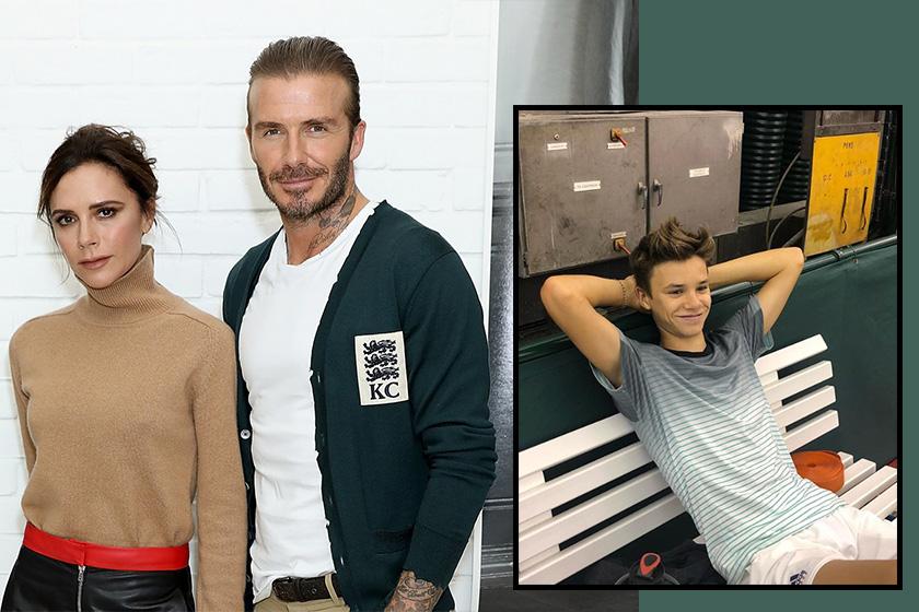 Victoria Beckham daavid beckham builds son Romeo tennis court