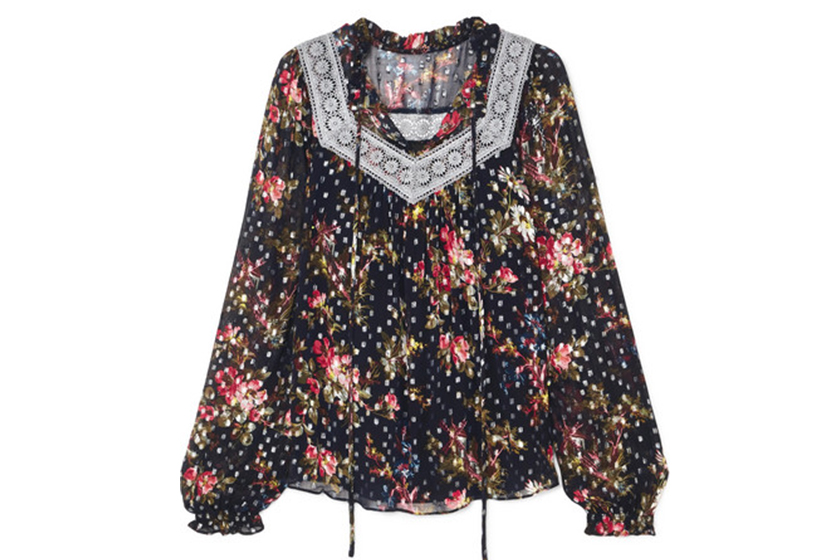 Needle & Thread Winter Forest Floral Blouse