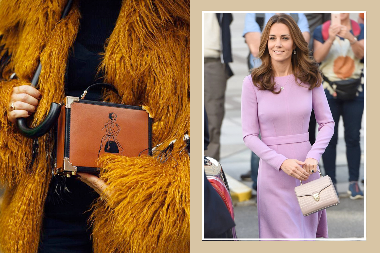 pippa middleton giles deacon handbags Aspinal of London designer