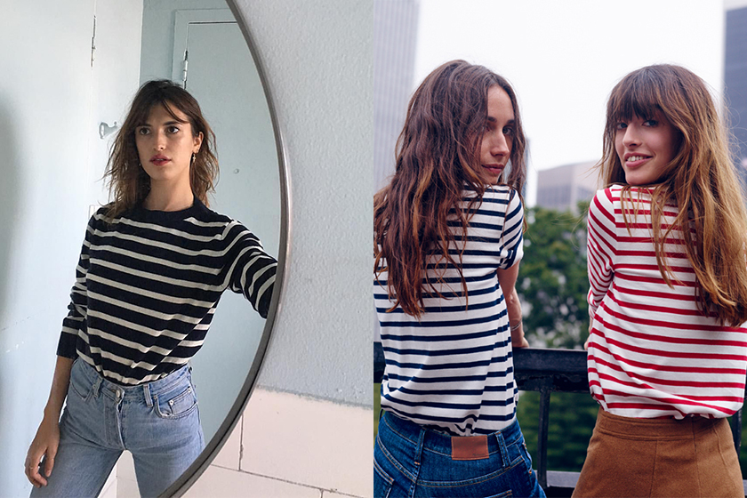 french style striped tee
