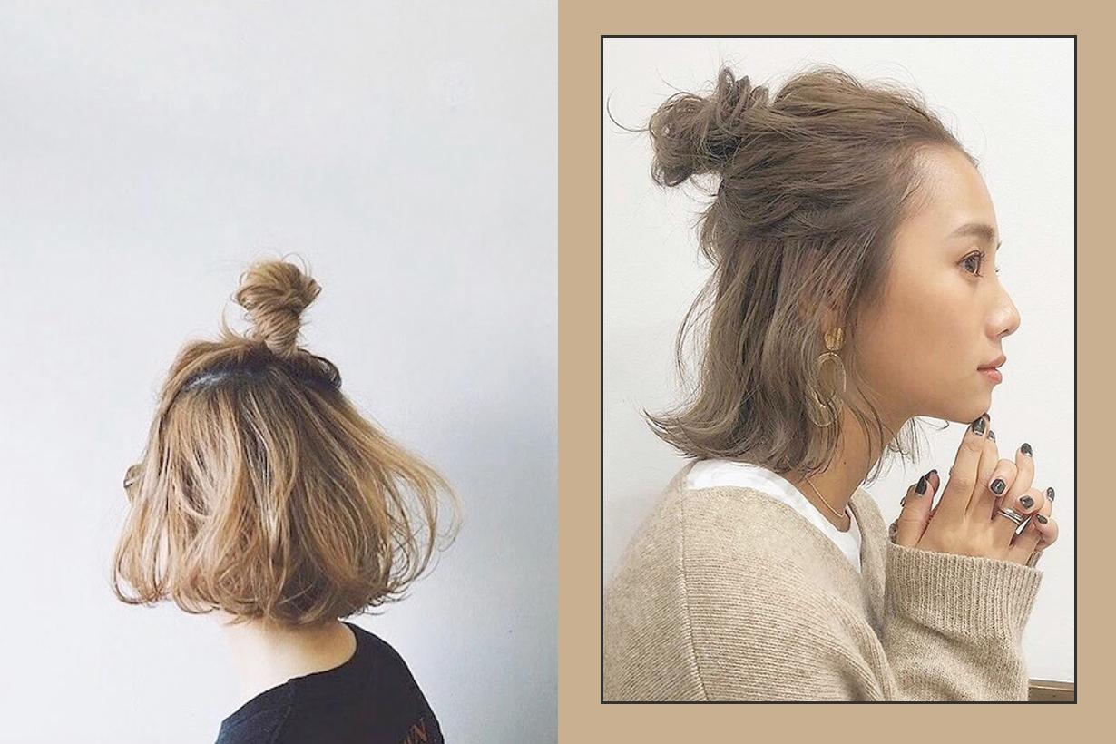 half bun hairstyle tutorial japan natural easy way